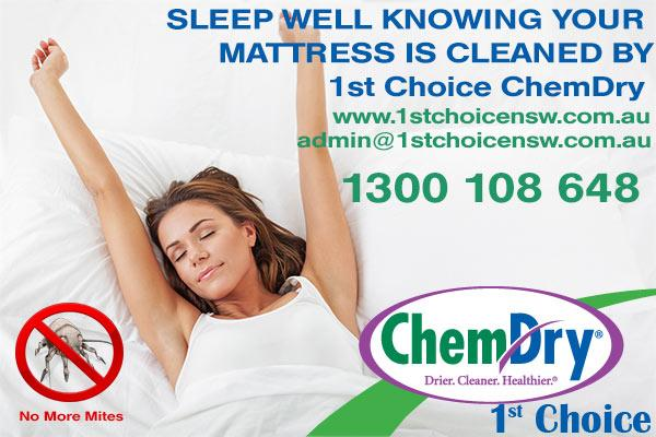 sleep-well-in-a-clean-mattress 20% OFF MATRESS CLEANS - Chem-Dry 1st Choice